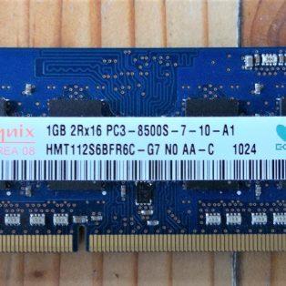 Jual DDR3 (Sodimm) Hynix 1GB 2Rx16 PC3-8500S 1066 MHz