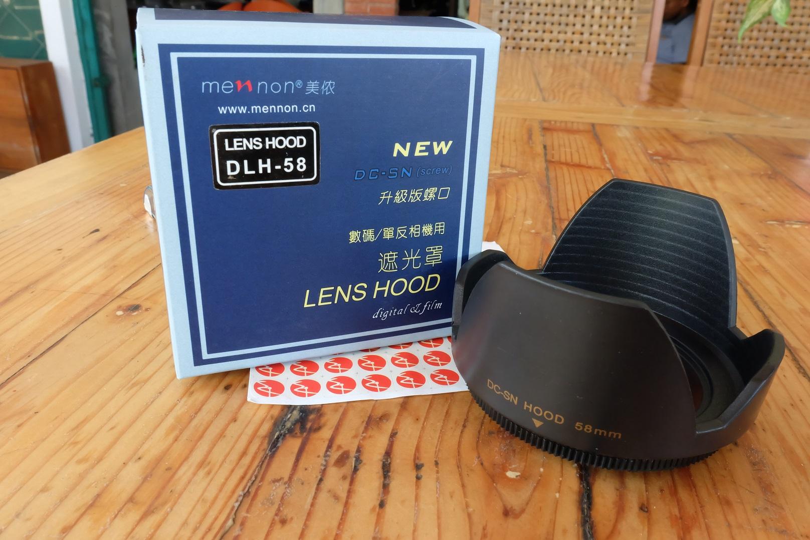 Jual lensa hood 58mm baru