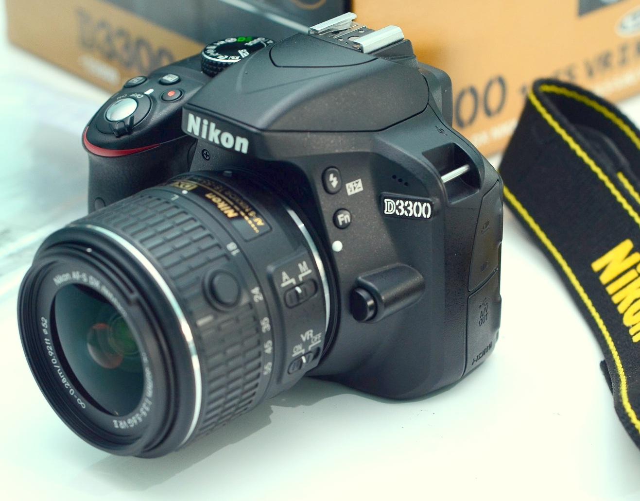 Jual nikon D3300 + lensa 18-55mm VR bekas
