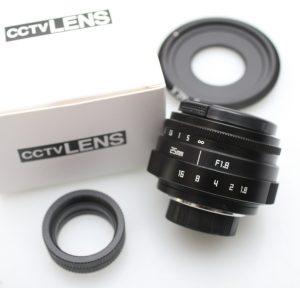 Lensa CCTV 25mm f/1.8 Baru