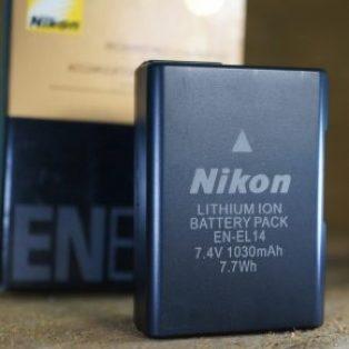 Jual Battery Nikon EN-EL14 Baru Nikon d3100 d3200 d3300 d3400 d5100 d5200