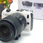 Jual Mirrorless Canon EOS M + lensa kit 18-55mm Bekas