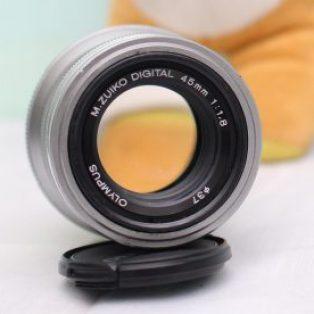Jual Lensa Fix Olympus M.Zuiko 45mm f1.8 Second