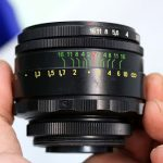 Jual  Lensa helios 55mm F2 + Adapter to Sony