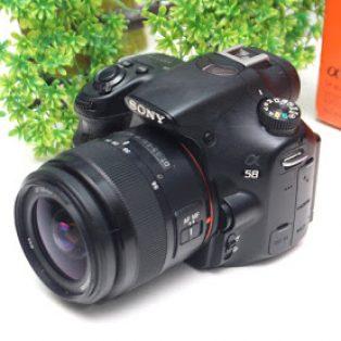 Jual Kamera DSLR Sony a58 Bekas Lensa : Sony 18-55mm SAM